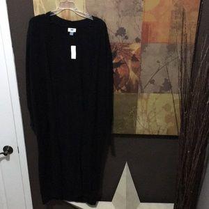 NWT extra long black cardigan